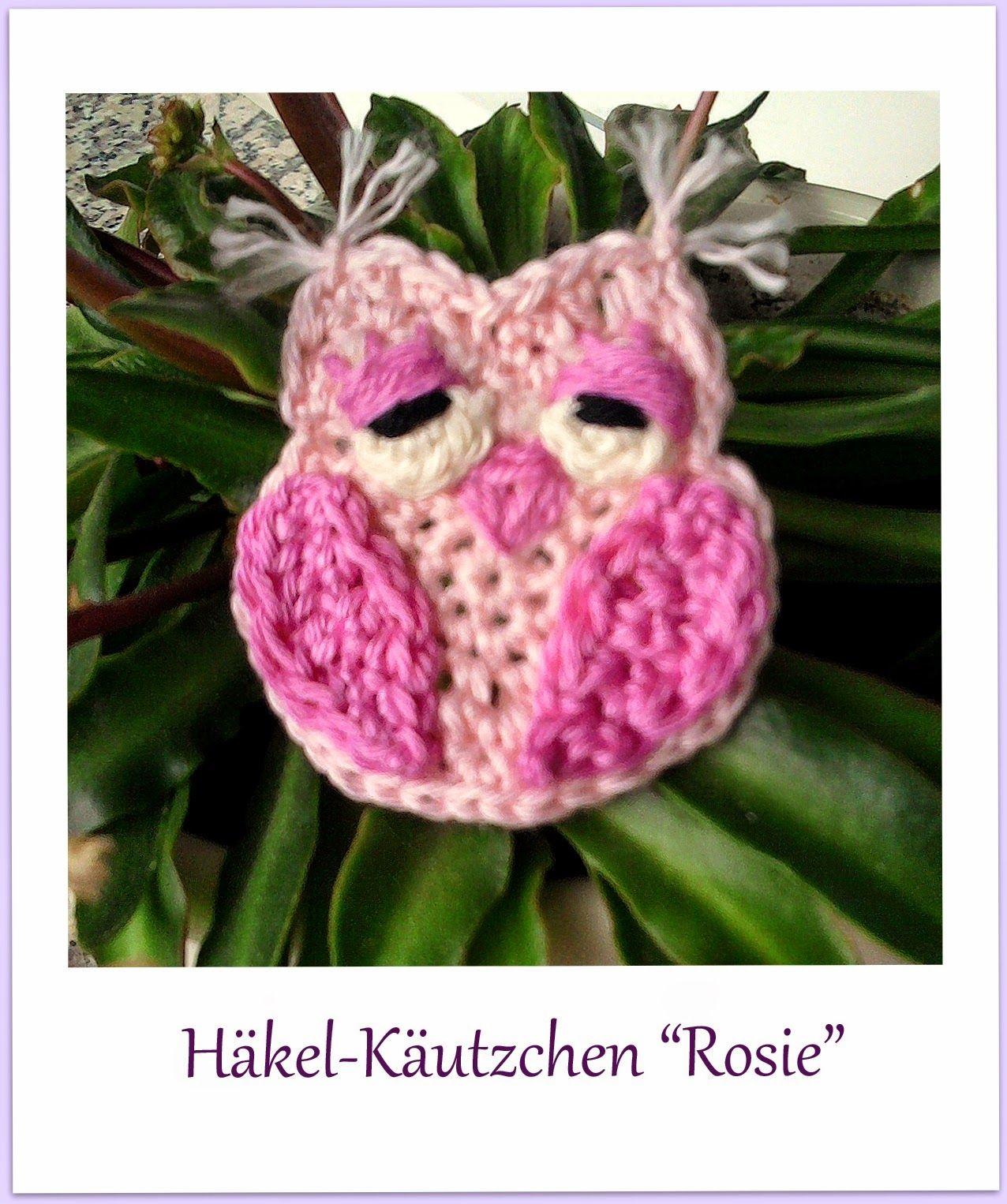 die h kel eule h keln stricken kleine eule free crochet patterns owls pinterest. Black Bedroom Furniture Sets. Home Design Ideas