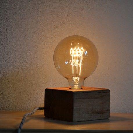 lámpara de sobremesa lamp abat jour wood lamp vintage lamp