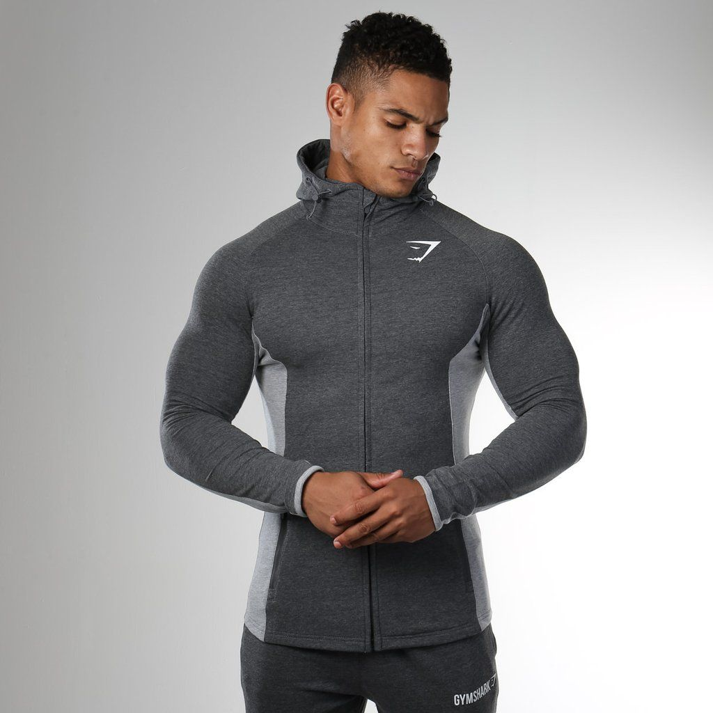 6624ac77 Gymshark Fit Hooded Top - Charcoal Marl/Grey Marl at Gymshark | Gym ...