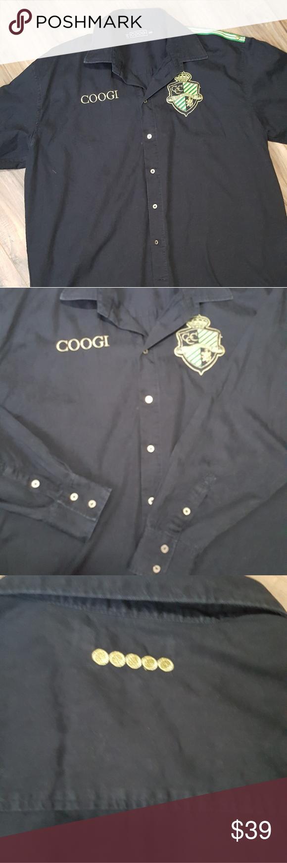 Coogi Black Button Up Shirt Black Button Up Shirt Fashion Trend Dresses Clothes Design [ 1740 x 580 Pixel ]