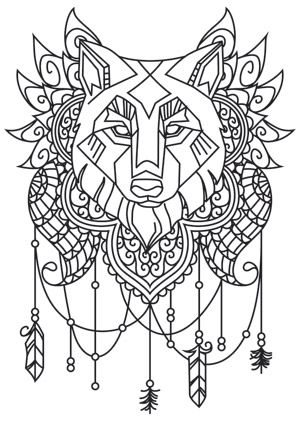 Anima Wolf Urban Threads Unique And Awesome Embroidery Designs