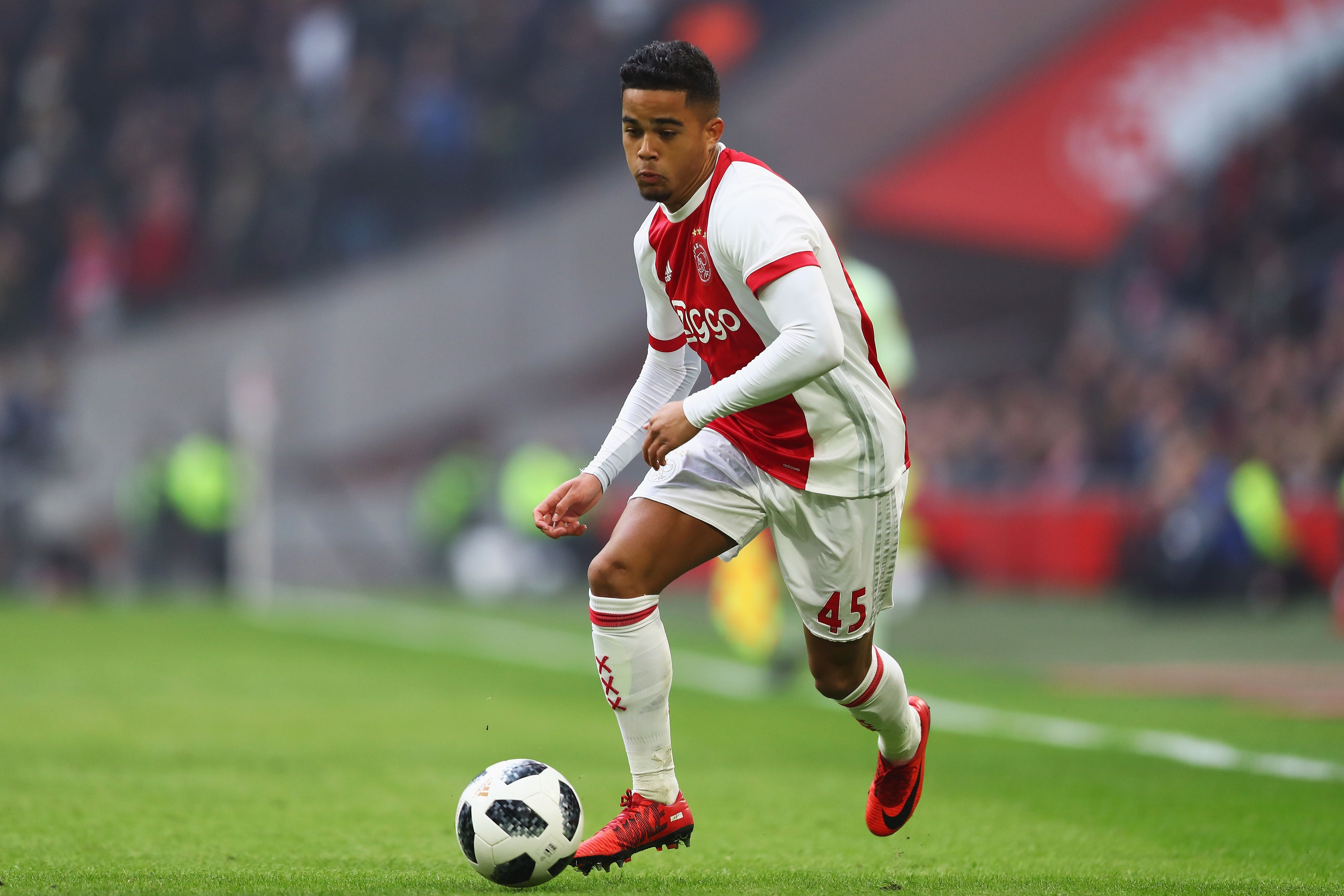 Soccer  Justin Kluiverts Serie A move is almost done -      Everyone wants Ajax starletJustin Kluivert  For weeks if not months there have been plenty of transfer stories swirling aroundAjaxs Justin Kluivert.  Justin Kluivert is currently on the books at Ajax following in the footsteps of his dad Patrick. But Justins contract with Ajax survives until 2019 and theres plenty of speculation the 19-year-old could be sold this summer.  Justin Kluivert who often plays down the left-wing scored 10 goals and chipped in with five assists for Ajax last season in the Dutch top flight.  Liverpool & Tottenham  In recent weeks Liverpool and Tottenham have both been name-dropped in theKluivert conversation.  Corriere dello Sport claimed that Tottenham and Liverpool have both lodged 25 million euro bids for Kluivert with Ajax.  Ajax were said to be holding out for a 30 million euro offer.  But the big news in Dutch paper Telegraaf on Monday is that AS Roma are on the verge of confirming theirKluivert deal.  AS Roma win theKluivert race  Telegraaf believe that Justin Kluivert could be unveiled as a Roma player on Monday or Tuesday. Roma are thought to be willing to pay Ajax their asking price for Kluivert.  That could see Ajax collected 17.5 million euros this summer. Roma will also be committed to future payments of around 21-22 million euros determined by various add-ons.  Kluivert is tipped to sign a five year deal to move to the Stadio Olimpico.  Could Roma sign another Ajax star as well?  Telegraaf tail off their report linking the Romans with Ajaxs Moroccan international wingerHakim Ziyech.  Na een weekend gesteggel over min of meer gegerandeerde bonussen nadert @OfficialASRoma door #Ajax verlangde transfersom van (maximaal) ruim 21 miljoen euro voor #Kluivert. Akkoord tussen clubs maandag of dinsdag verwacht. Meer in papieren editie @telesport   Mike Verweij (@MikeVerweij) June 10 2018  Also see: Nabil Fekir & Manuel Lanzini blows: Liverpool search for new forwards.  Why Arge
