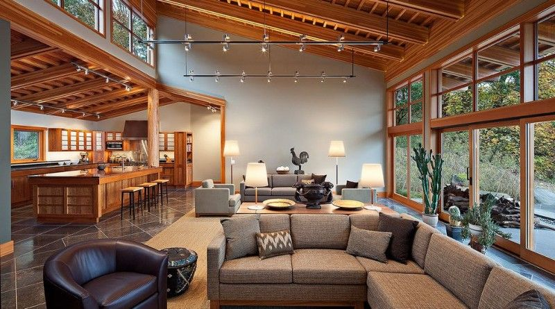 Best Clerestory Windows Contemporary Living Room With Sloped 640 x 480