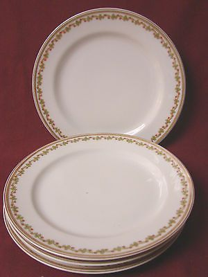 Haviland Co, China Dinnerware Limoges, Sonderburg, Set 4 salad plate