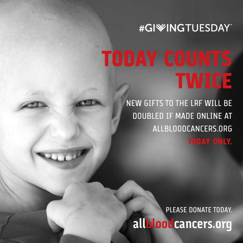 Today is the day! Please stand, fight and give for life by donating at http://bit.ly/1fdtORt. If we raise $15K today, LRF will receive an additional $15K to help fund blood cancer research. We can do it but we need your help. #LRF4LIFE. #ILGIVE