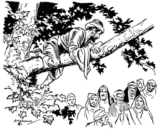scripture reference for the coloring page is luke 19:1-10: title ... - Jesus Zacchaeus Coloring Page
