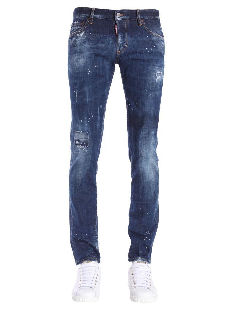 DSQUARED2 Slim Fit Jeans in Blu