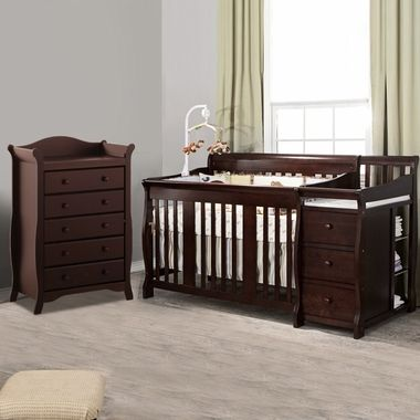 Pin By Gina Gallegos On Babyyy G 3 Cribs Crib With Changing Table Convertible Crib