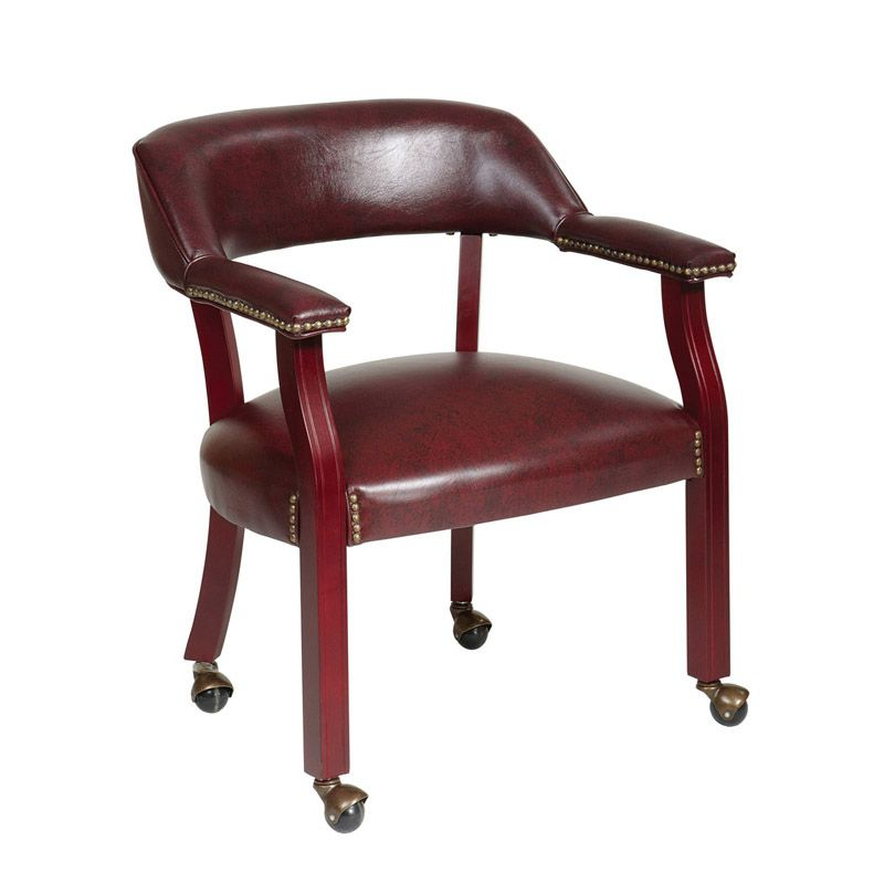 Tr 101 Traditional Guest Chair With Casters With Images Guest