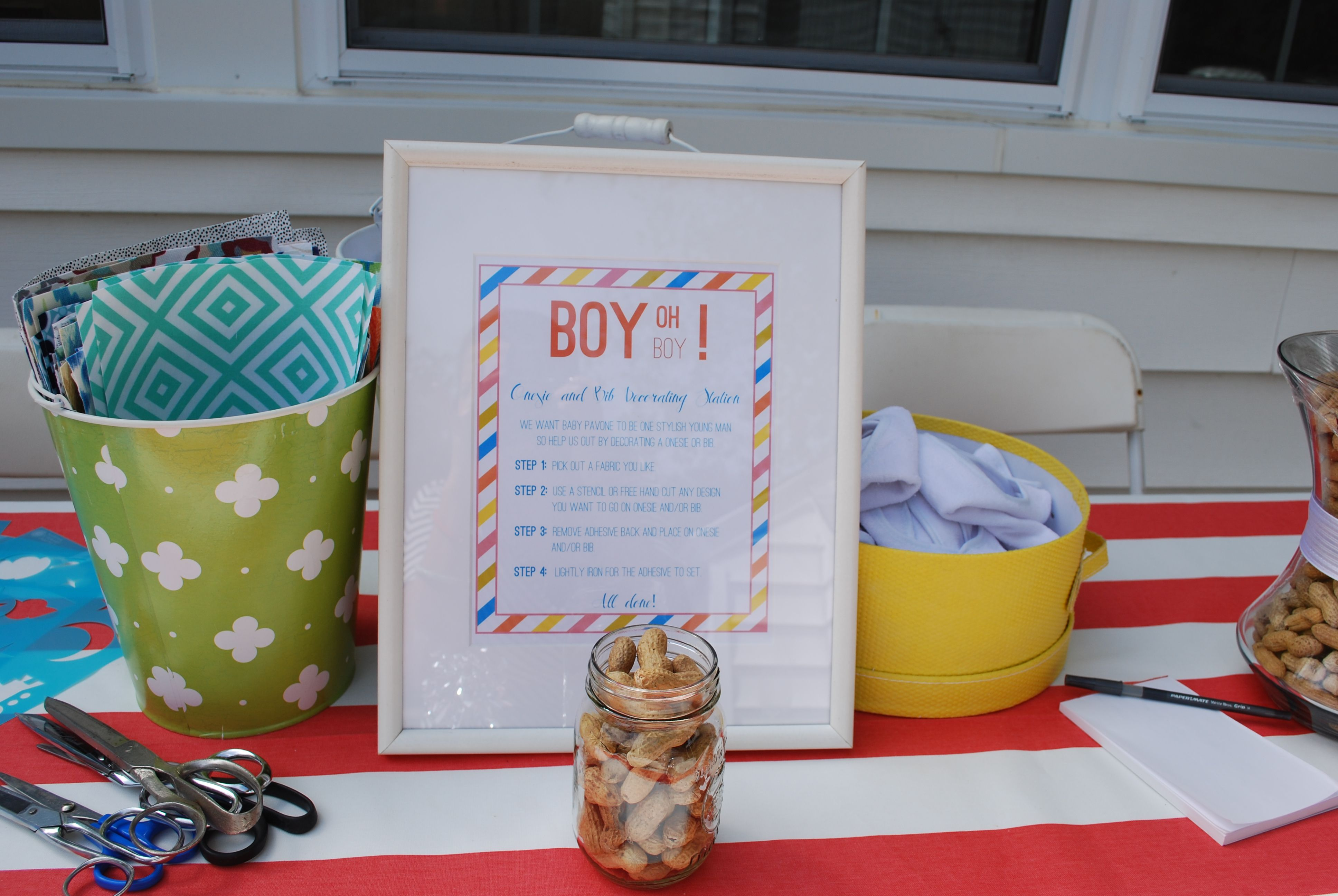 174842cb9 Baby shower idea! Onesie and Bib decorating station! | Baby Showers ...