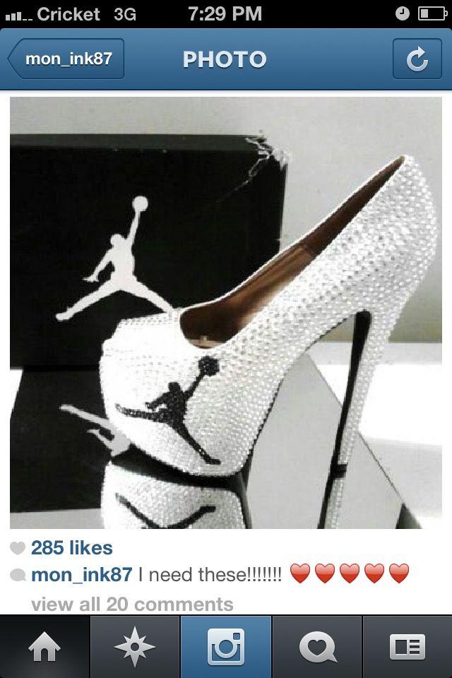 Jordan logo stilettos.Hot!