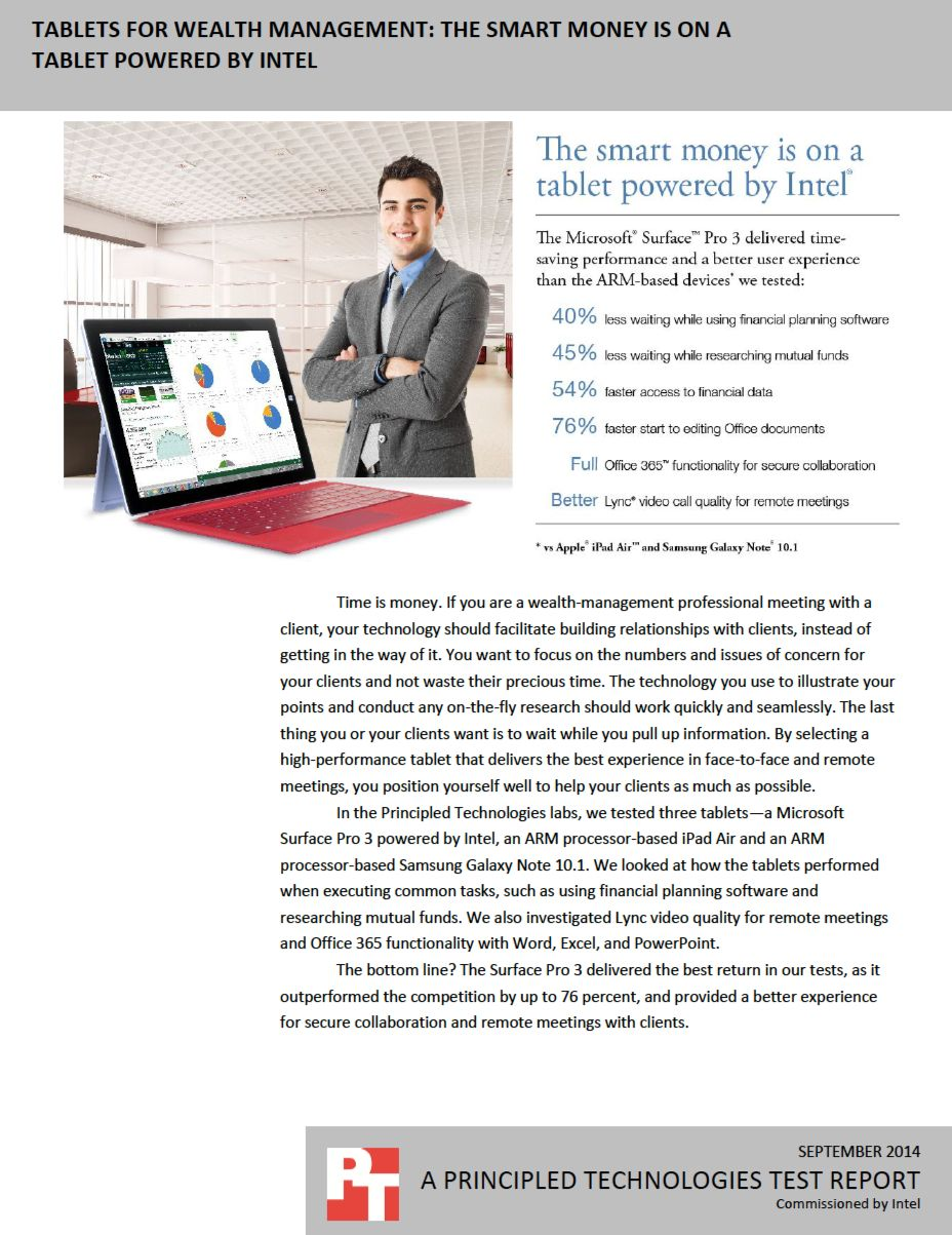 Tablets for wealth management The smart money is on