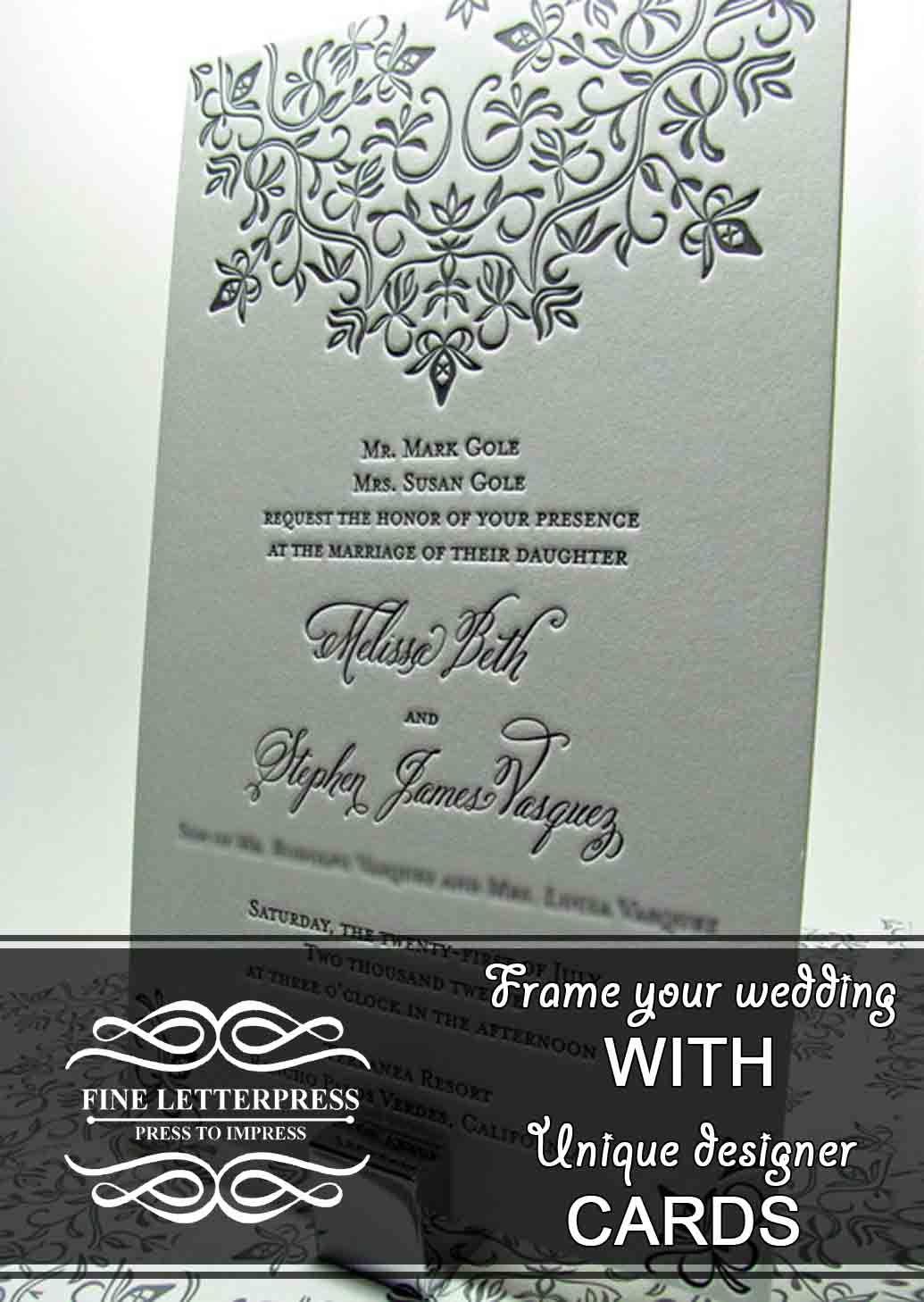 Letterpress Mehul Parikh Fine Letterpress Ahmedabad Wedding Invitations Letterpress Wedding Invitations Letterpress Wedding