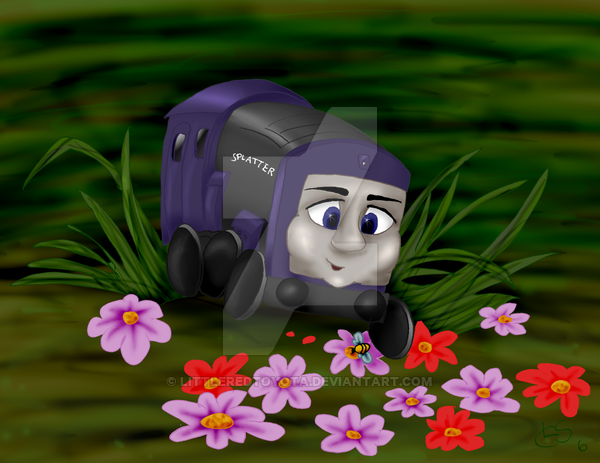 Baby Splatter By Https Www Deviantart Com Littleredtoyota On Deviantart Thomas And Friends Thomas The Tank Engine Fan Art