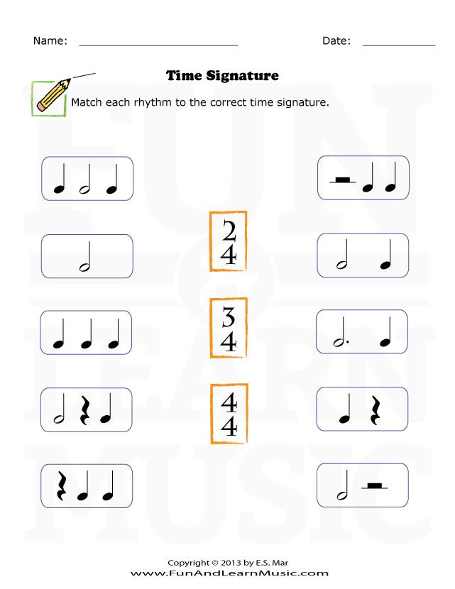 Time Signature Music Printables Music Lessons Music