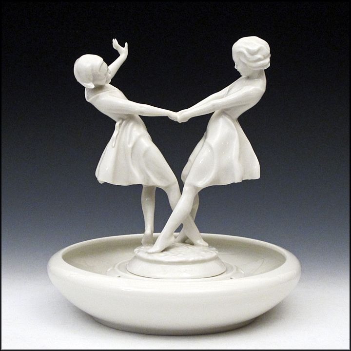 hutschenreuther figurine by carl werner dancing women girls with flower frog base gifts