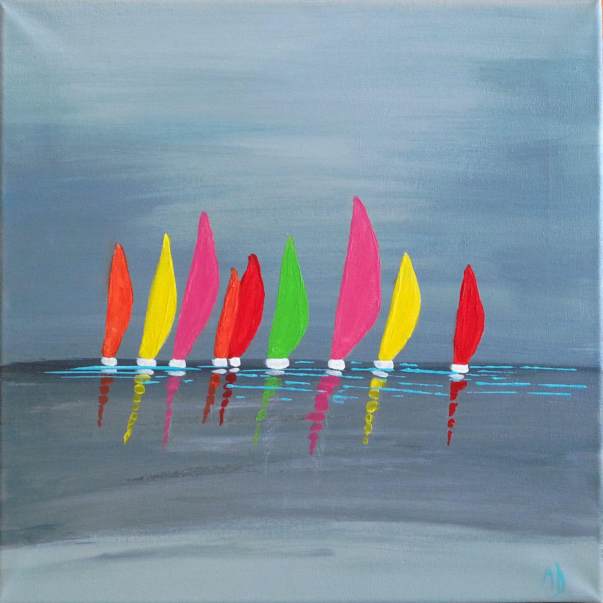 Tableau acrylique bateaux tableaux pinterest tableau for Peinture interieur bateau