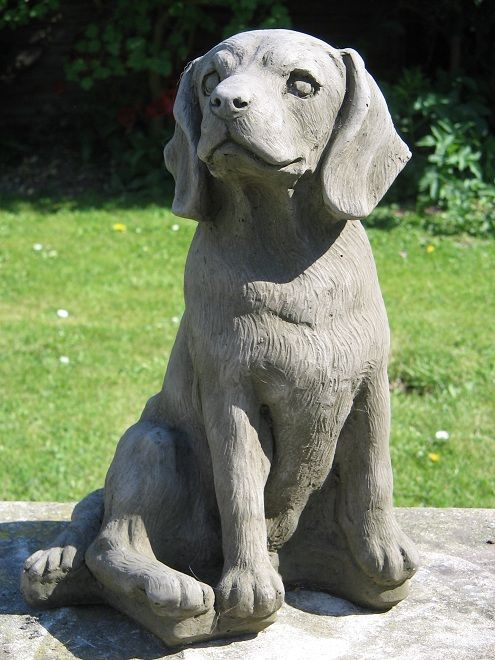 Beagle Dog Statue Garden Statues, Dog Statues, Beagle Dog, Lawn Ornaments,  Pet