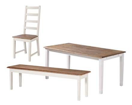 Elegant Set »Paris« (85 X 180 Cm, 3 Stühle Und 1 Bank)