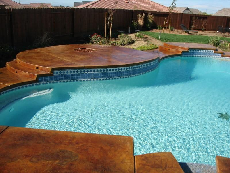 stained concrete garden|pool deck providedtexas concrete