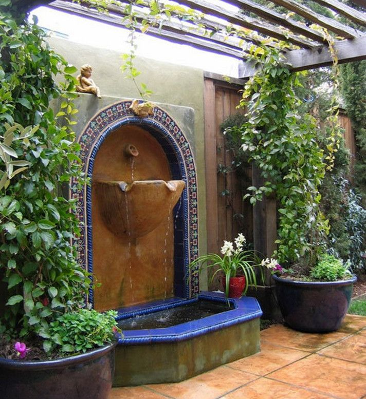 Backyard Wall Fountains Make Your House Features Stunning With Water Garden Design