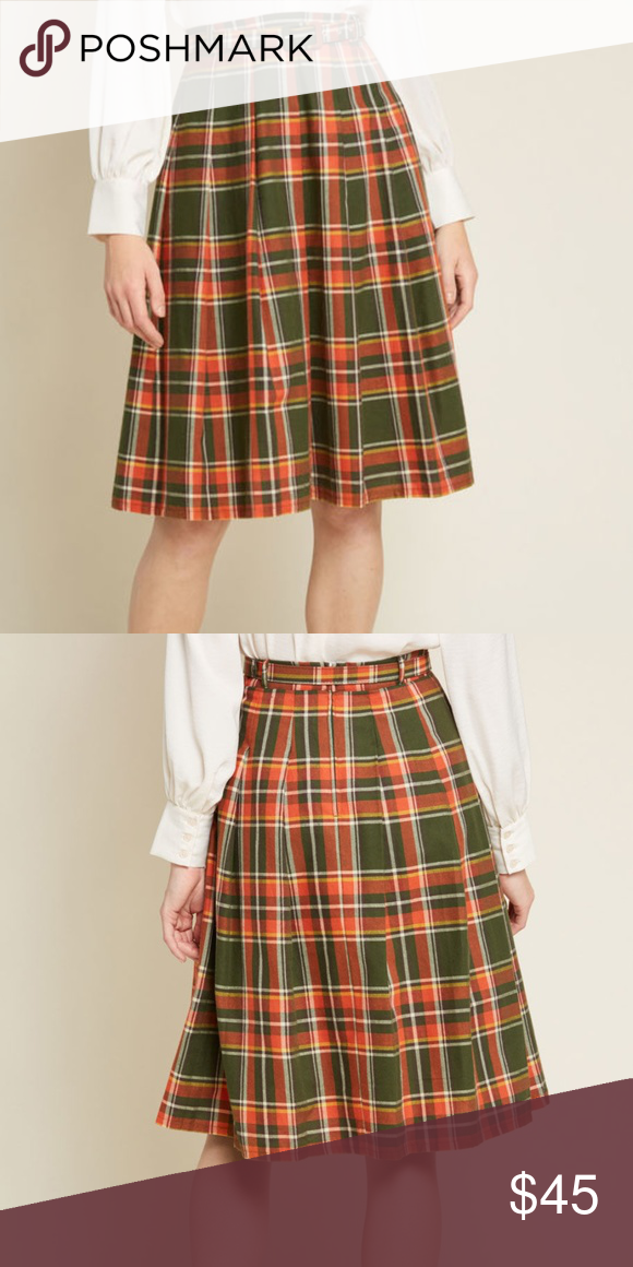 a4e980a9b2 Pleated Dream Belted Midi Skirt Between its coordinating belt, orange,  yellow, and white