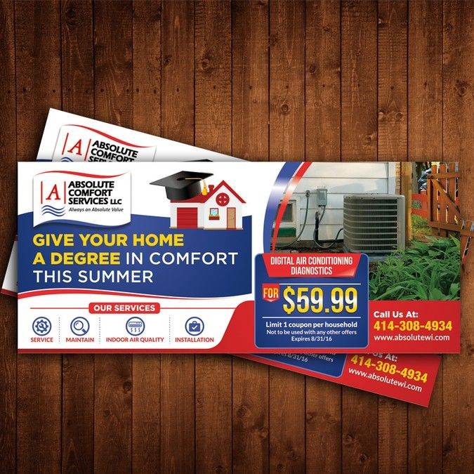 Create Heating Air Conditioning Ad Print Time Crunch By K41z4