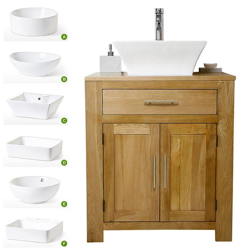 small bathroom sink vanity units. Solid Oak Vanity Unit with Basin Sink 700mm  Bathroom Prestige