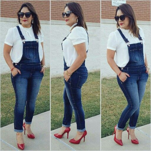 l.e.i. denim overalls fr @walmart  Red Nine West pumps fr @rossdressforless ❤