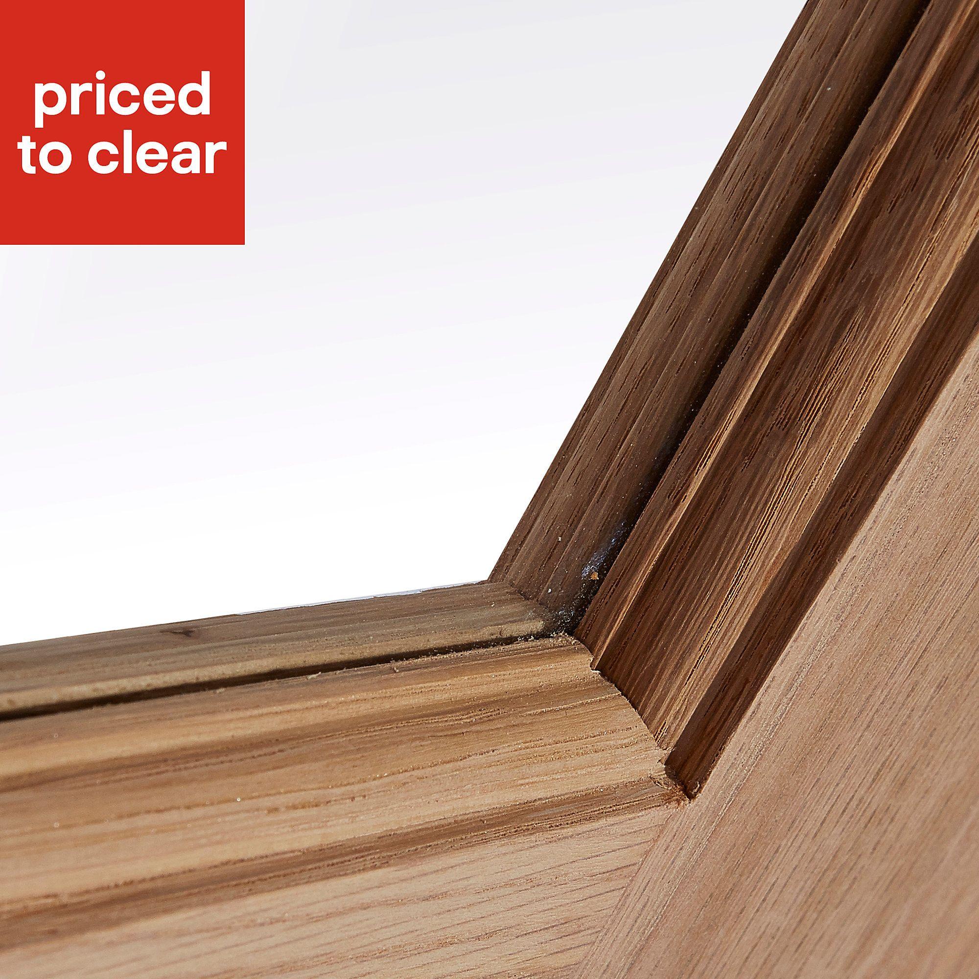 60 Unbelievable Under Stairs Storage Space Solutions: Traditional Oak Veneer Internal Door, (H)1981mm (W)838mm