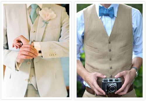 Trajes de novio para boda de jardin