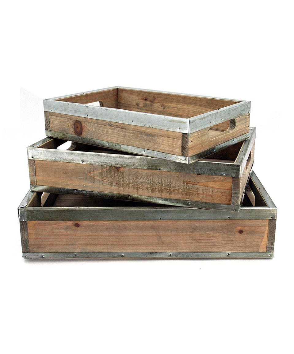 Another great find on #zulily! Vintage-Inspired Decorative Tray Set by Contrast #zulilyfinds