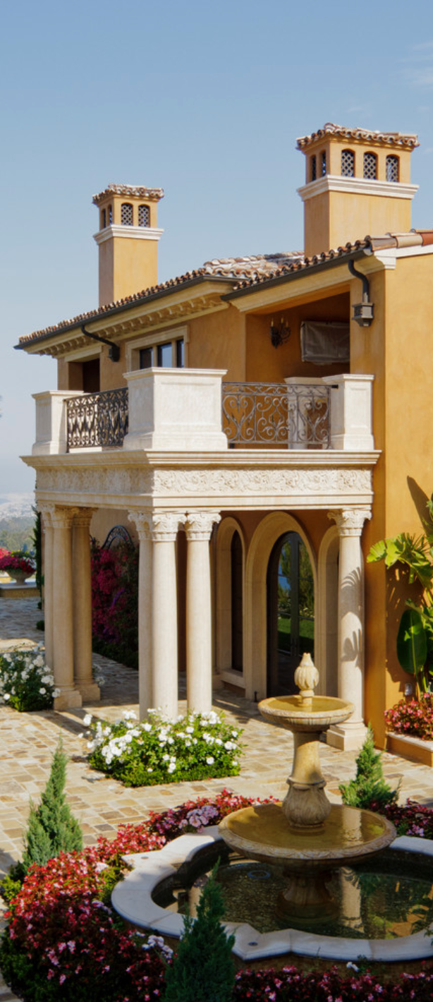 Old world mediterranean italian spanish tuscan homes for Tuscan home plans with casitas