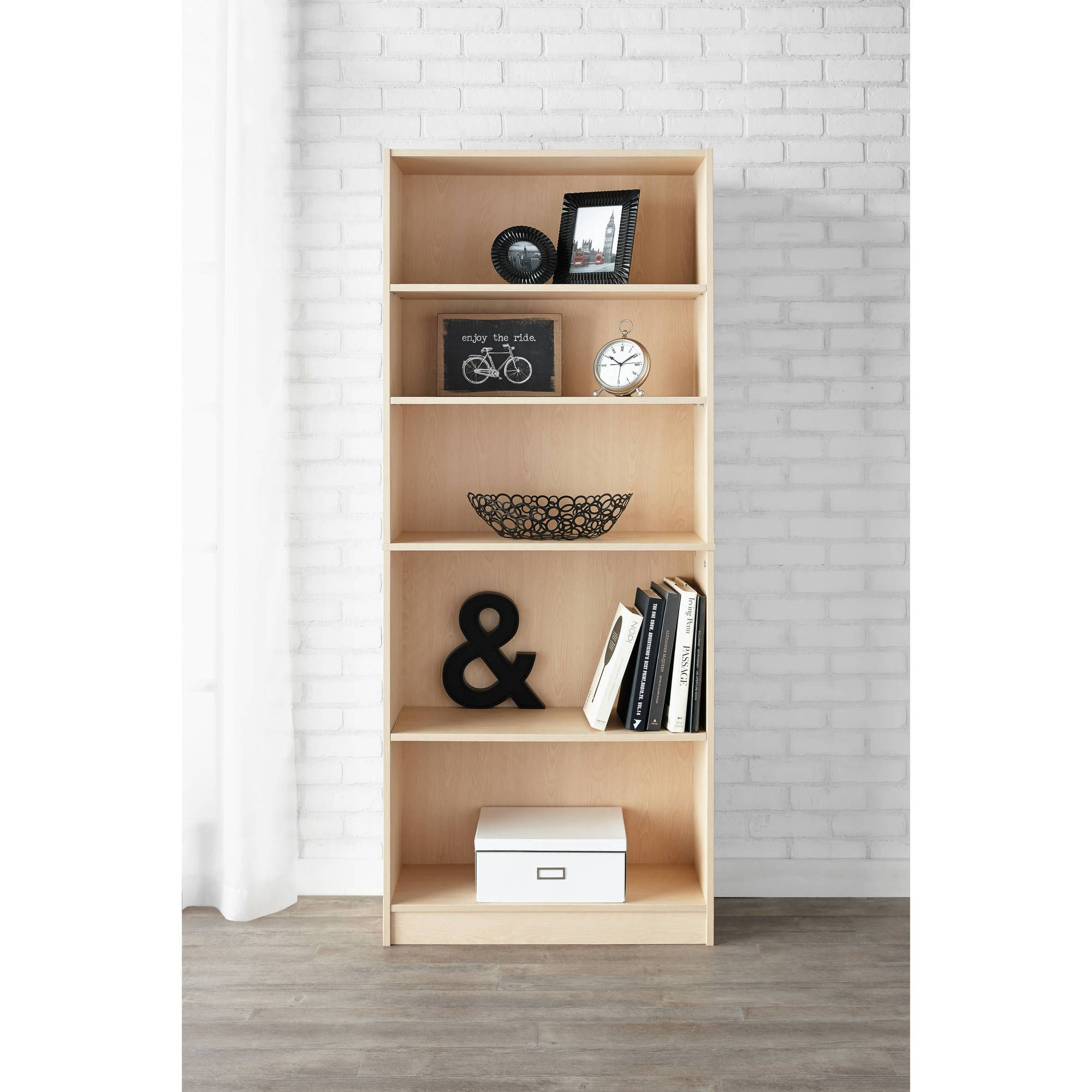 Mainstays shelf bookcase multiple colors walmart home