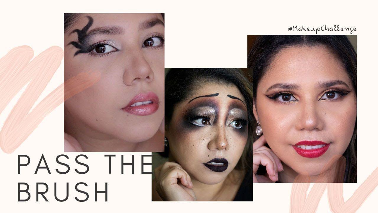 Pass The Brush Makeup Tutorial Tik Tok Challenge Tutoriales De Maquillaje Brochas De Maquillaje Como Maquillarme