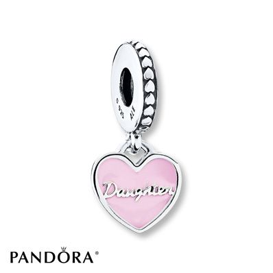 Jared PANDORA Charm Mother Daughter Hearts Sterling Silver
