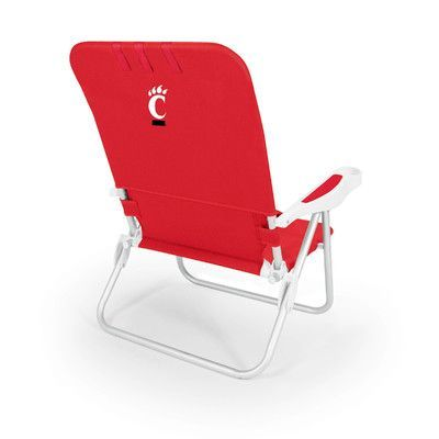 picnic time ncaa monaco beach chair ncaa team cincinnati color rh pinterest com