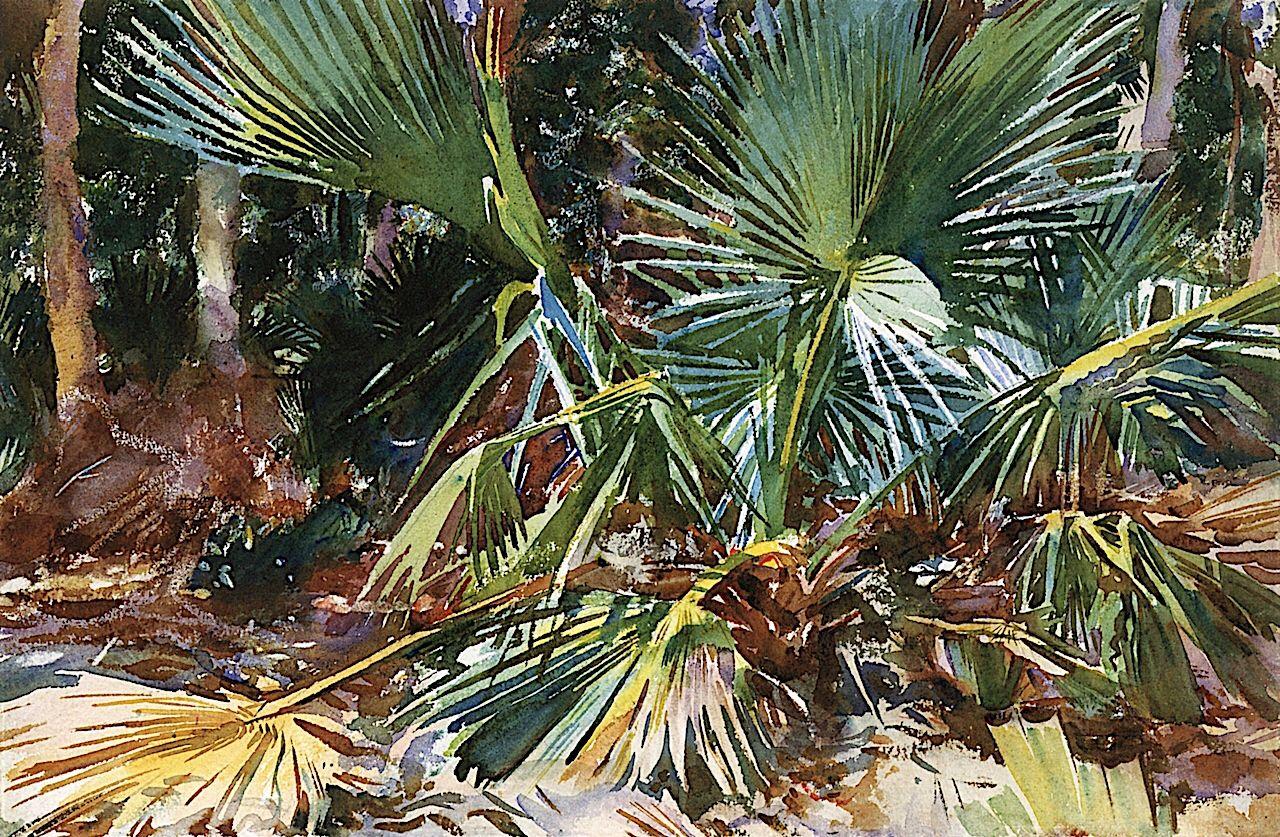Florida  by Winslow Homer  Giclee Canvas Print Repro Palm Trees