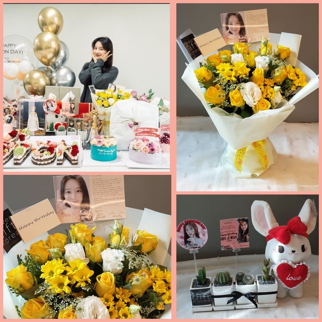 This beautiful kimjiwon received beautiful flowers, a