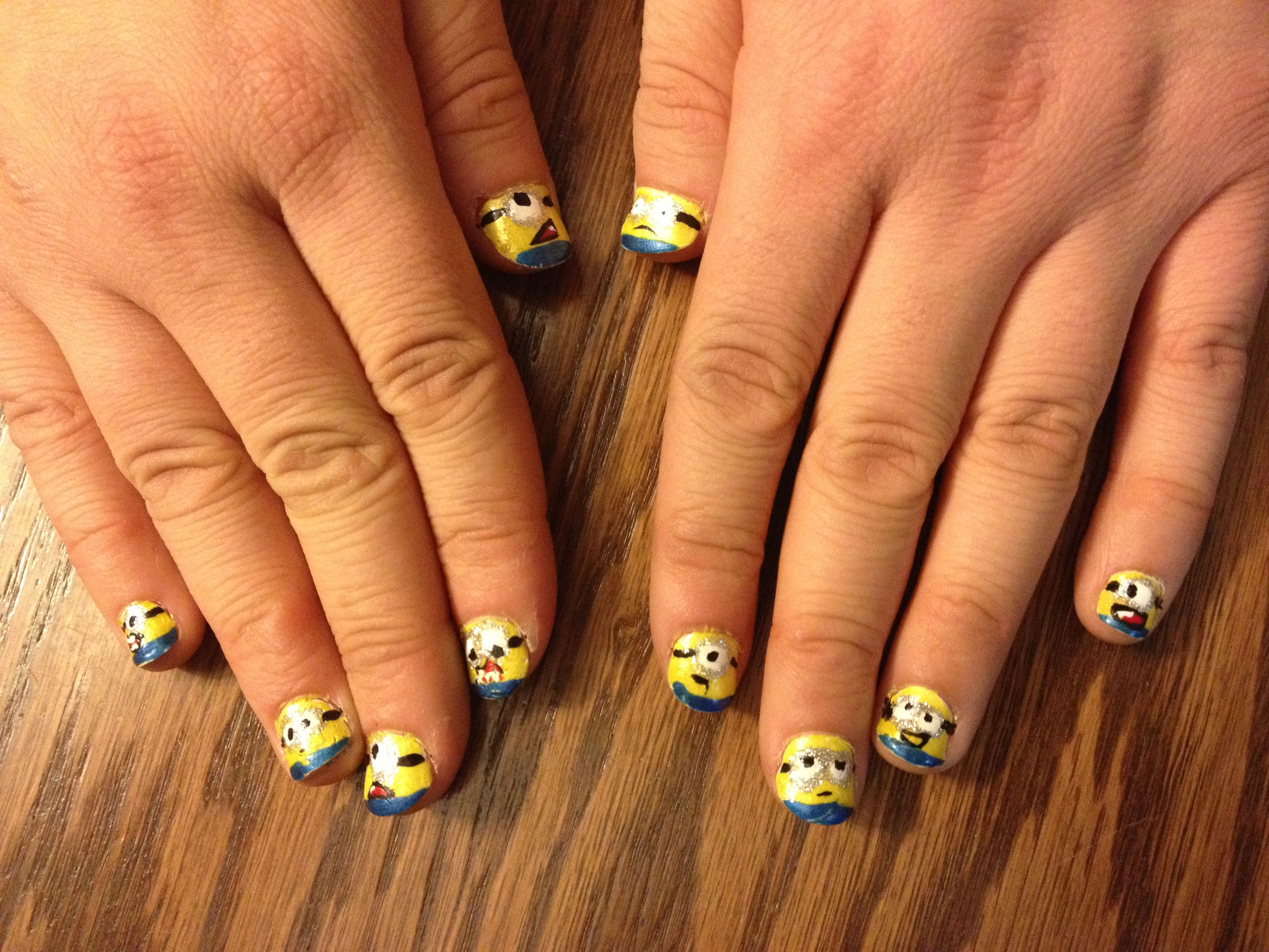 Minions from despicable me! Did it myself