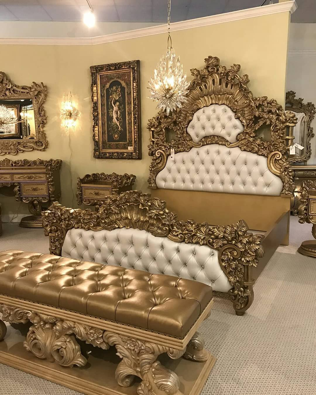 Berkah Jaya Furniture Di Instagram Kamar Set Gold Luxury