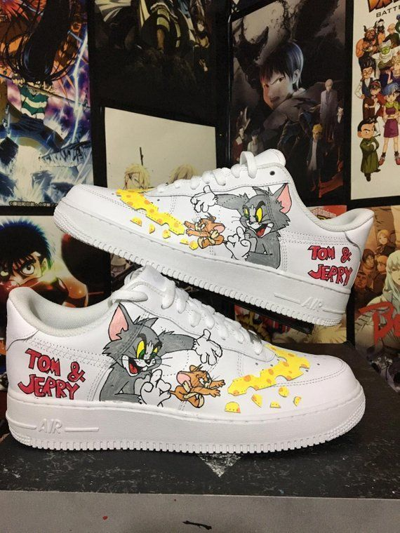 Customized Nike Air Drive tom and jerry, customized sneakers
