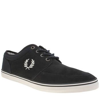 Fred Perry Navy Stratford Mens Trainers Keep your plimsoll game strong this season with the Fred Perry Stratford. Arriving in navy suede, this lightweight style features iconic Laurel Wreath branding embroidered perfectly on the midsection. http://www.MightGet.com/january-2017-13/fred-perry-navy-stratford-mens-trainers.asp