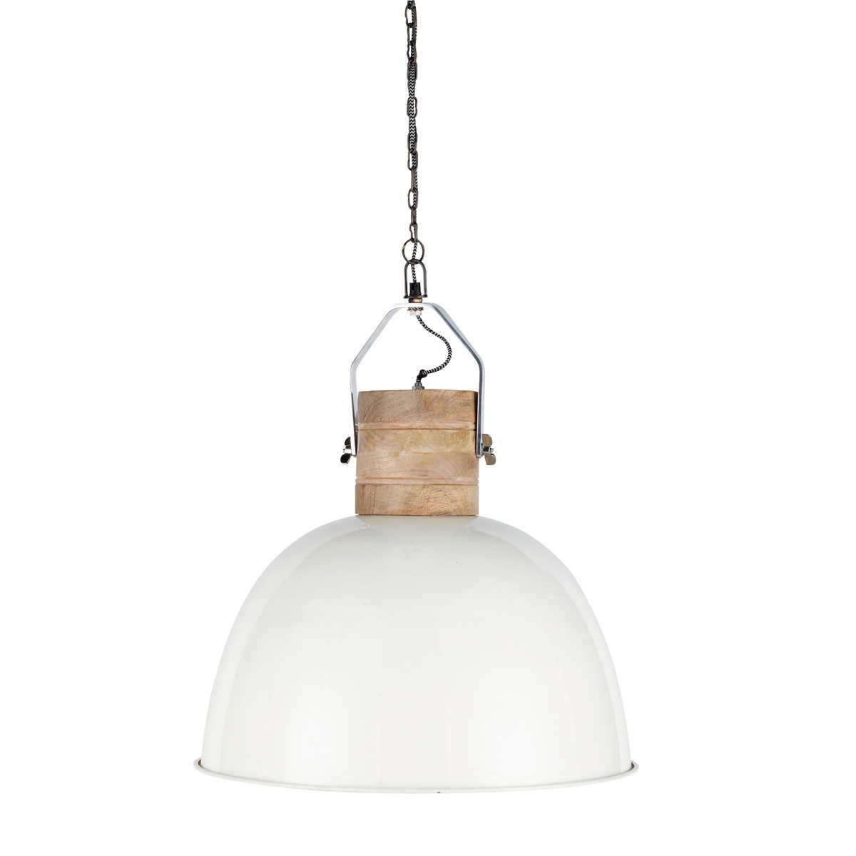 Ivory Metal and Mango Wood Pendant D50 | Home ideas | Metal ...