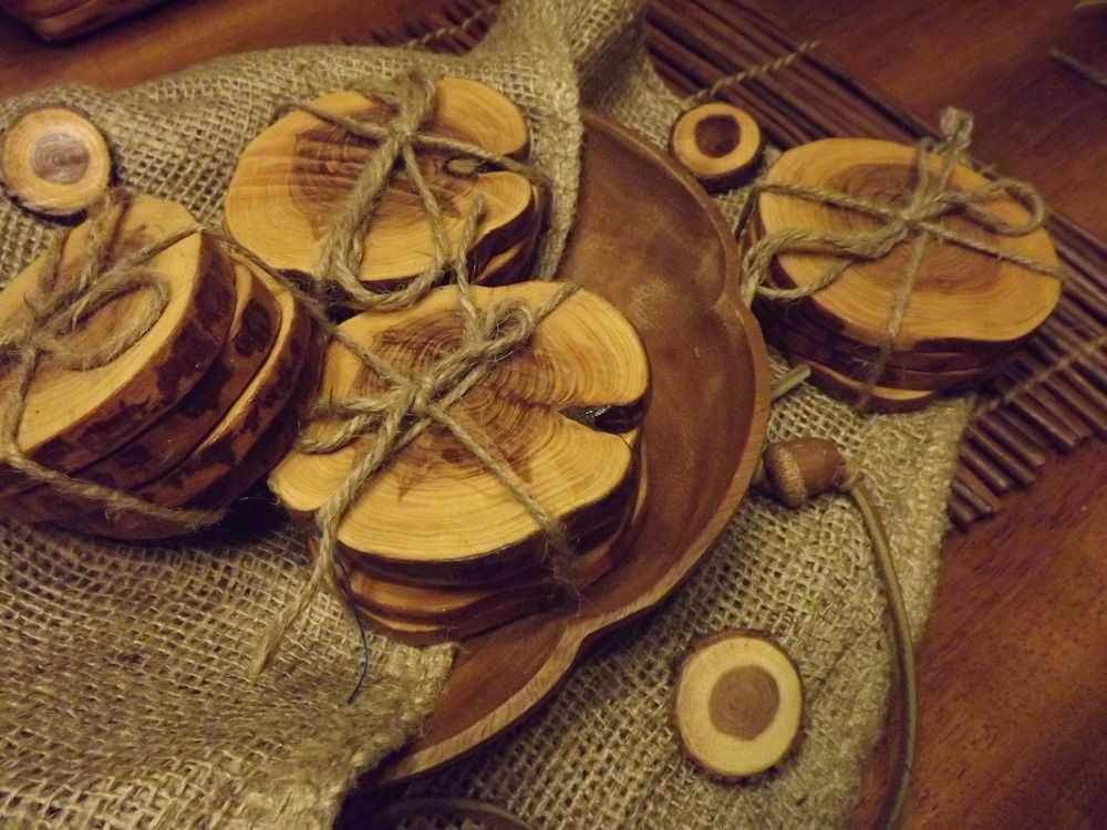 Wood Branch Coasters Pack of 4! Unique Item. Great Gift!