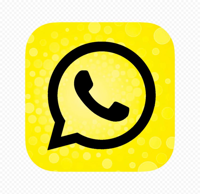 Hd Modern Yellow Black Whatsapp Square Logo Icon Png Square Logo Logo Icons Icon