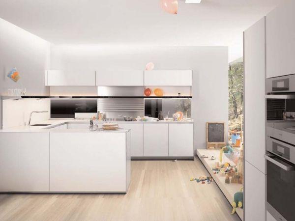 ModerneKücheWeißgrifflos Moderne küche, Küche, Weisse