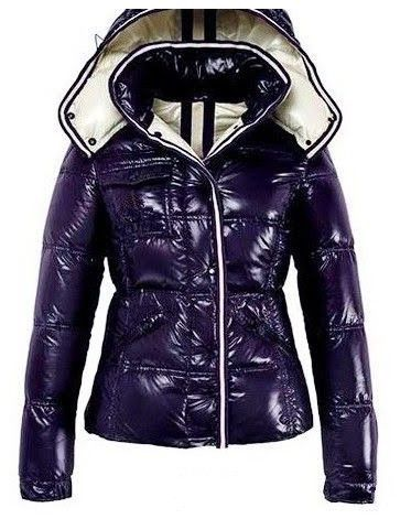 purple moncler coat