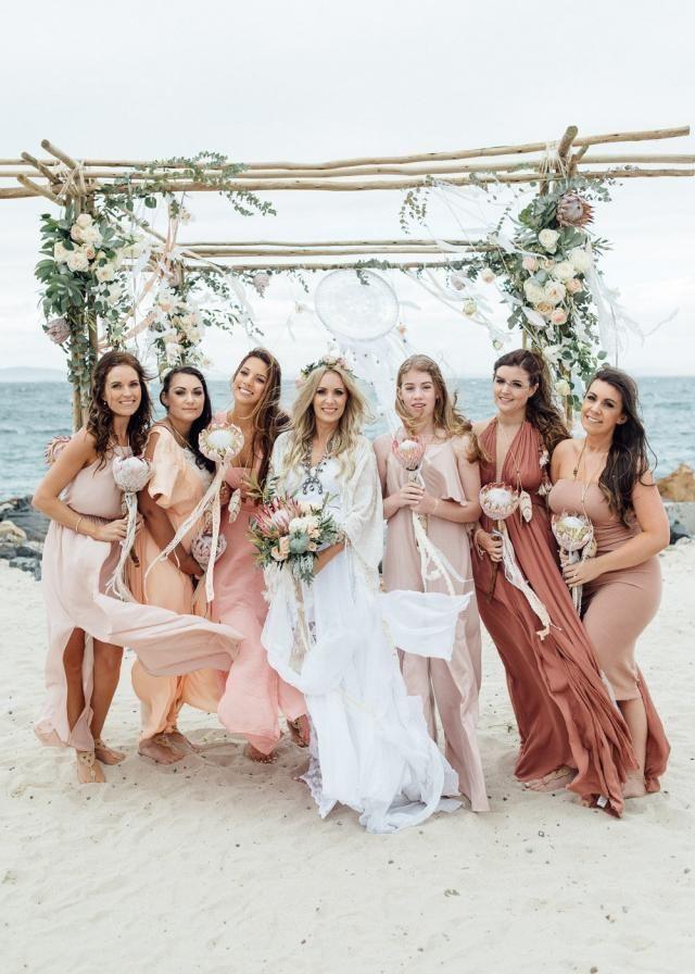 Bohemian beach wedding inspiration, loving the color scheme | Beach ...