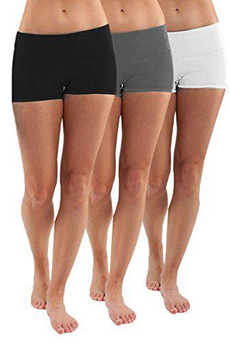 LOT 3 Shorts de sport femme fitness yoga running short culotte de sportif  fitnessM bf64829f602